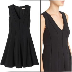 Rebecca Taylor Diamond Texture Fit and Flare Dress
